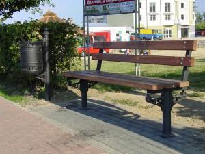 ławka i kosz Unicom
