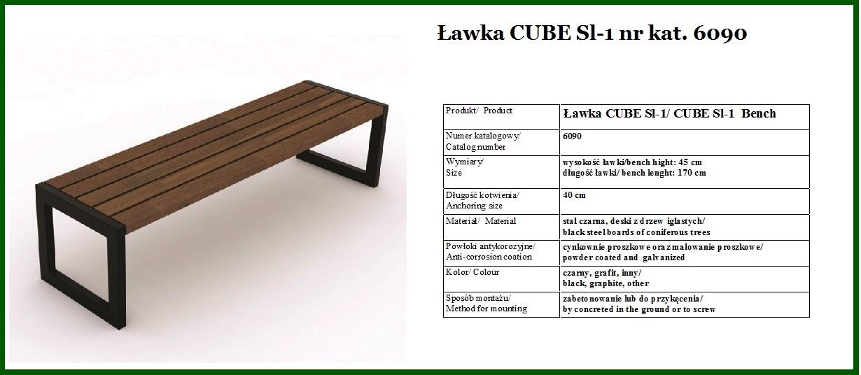 Ławka kwadratowa CUBE 1