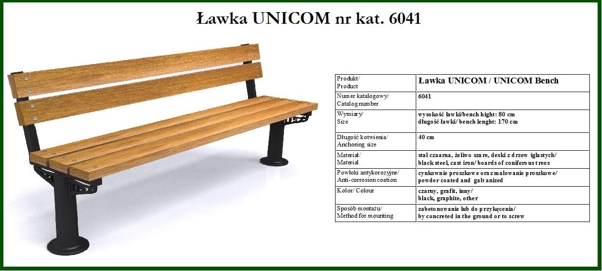 ławka miejska  UNICOM 6041