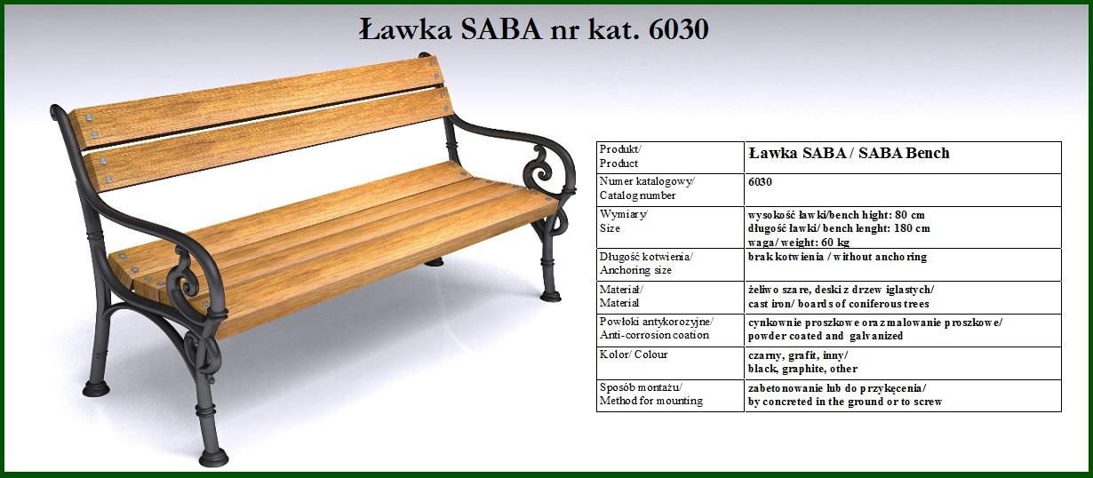 ławka wiedeńska SABA