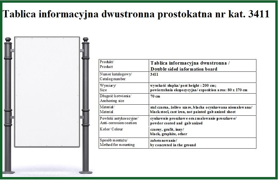 Tablica informacyjna prostokatna