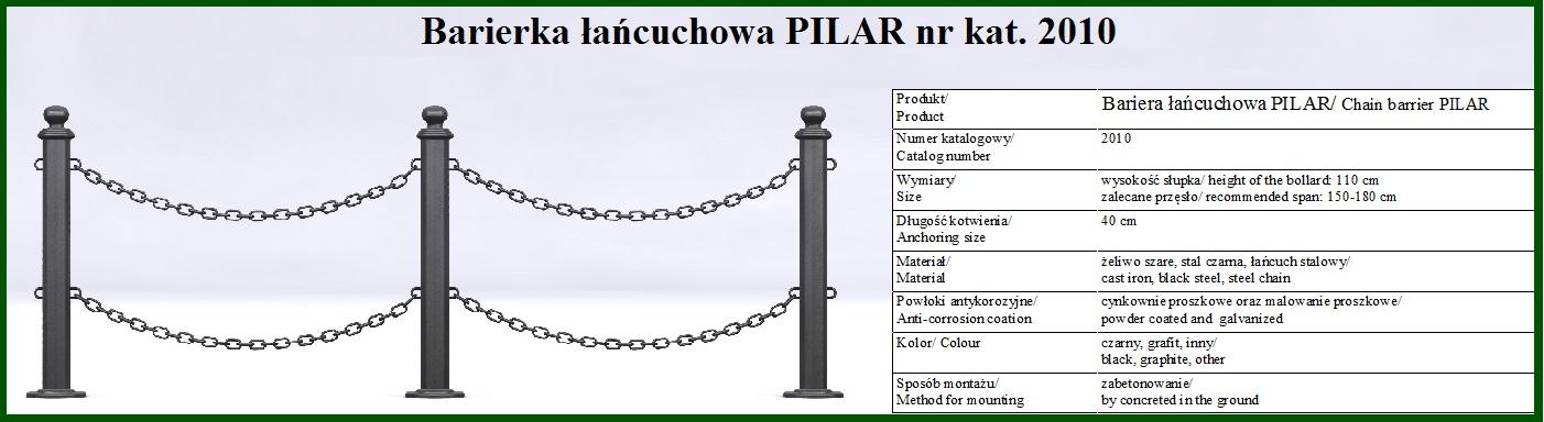 barierka pilar z łańcuchem 1