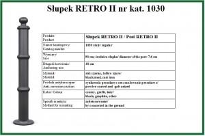 słupek RETRO II