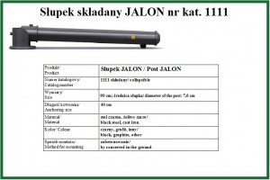 słupek składany  JALON
